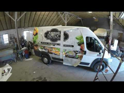 Timely Wraps Van Graphics Installation
