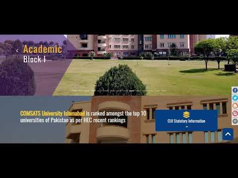 COMSATS Scholarships | COMSATS Admissions | CUI Admission And Scholarships | CUI Wah Campus | CUI