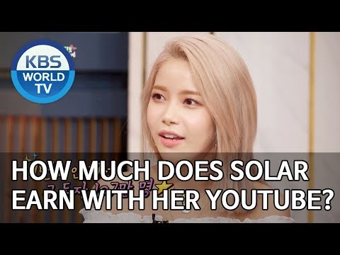 How much does Solar earn with her youtube channel? [Happy Together/2019.11.28]