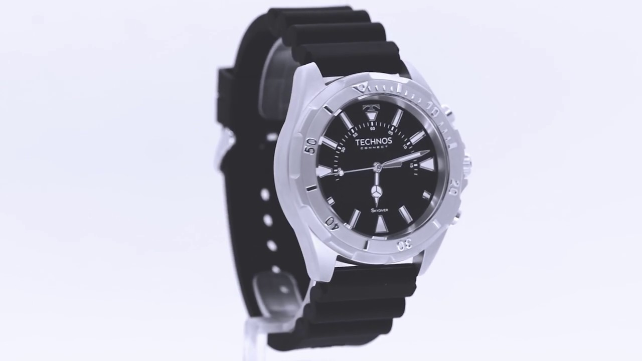 Relógio Technos Masculino Connect Skydiver SCAA 1P - Eclock - YouTube f25f54ac68