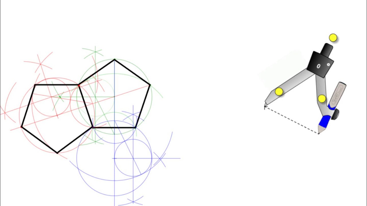 How to Construct the Net of a Dodecahedron - YouTube