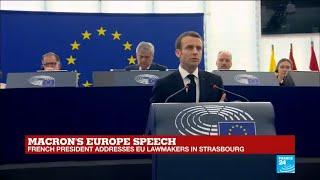 REPLAY - French president Emmanuel Macron addresses EU lawmakers