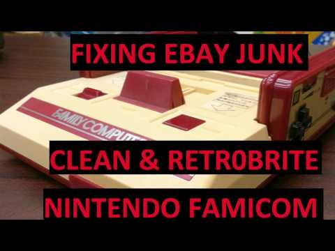 Fixing eBay Junk - Famicom - Retr0brite and clean the system