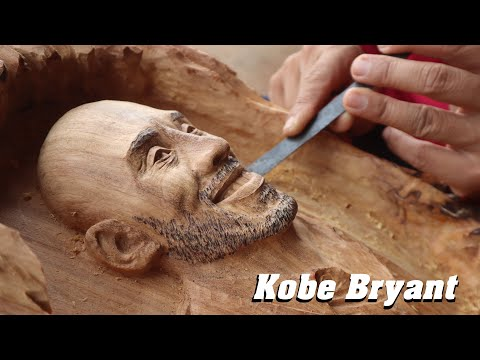 Kobe Bryant Wood Carving – The Lakers' legend