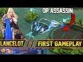 NEW OP ASSASSIN HERO LANCELOT First Gameplay - Mobile Legends