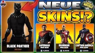 SUPERHELDEN SKINS IN FORTNITE!!! Superman, Ironman and Captain America Skins in Fortnite!!