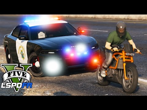 GTA 5 - LSPDFR Ep101 - California Highway Patrol - Motorcycle Madness