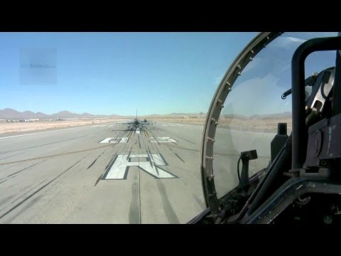 F-16 Cockpit View: Operations, Taxiing, In Air.