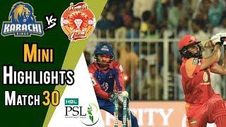 Short Highlights   Karachi Kings Vs Islamabad United    Match 30   16 March   HBL PSL 2018