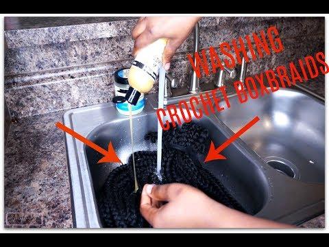 HOW TO : WASH /CLEANSE CROCHET BOX BRAIDS | JUSTNATASHA
