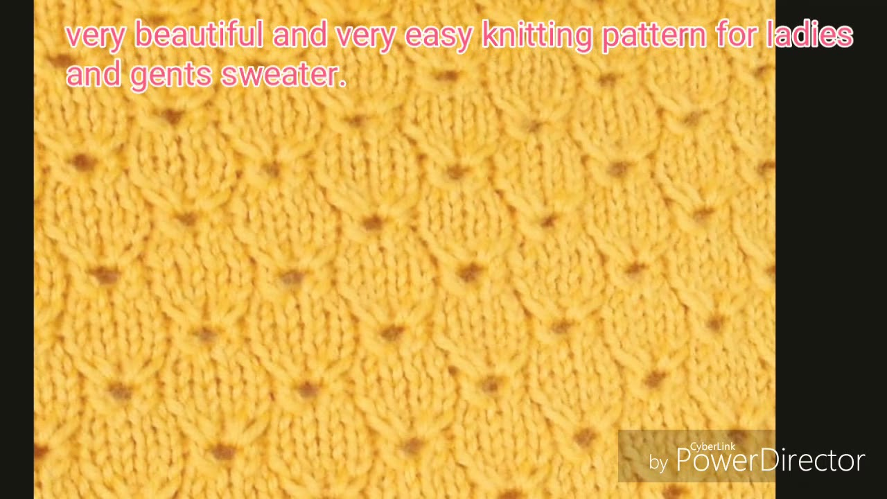 Beautiful And Very Easy Knitting Pattern For Ladies And Gents
