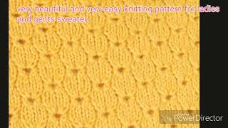 beautiful and very easy knitting pattern for ladies and gents sweater in Hindi . English subtitles.