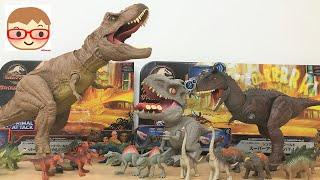 恐竜のおもちゃ!ジュラシック・ワールド!ティラノサウルス、ベビーインドミナスレックス 、カルノタウルス!ジュラシック祭り!