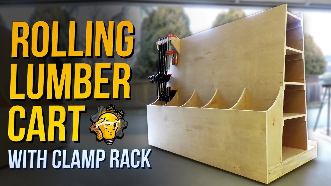 Attirant How To: Build A Rolling Plywood Lumber Storage Cart With Clamp Rack    YouTube