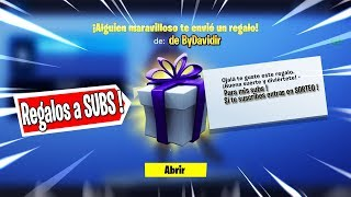 TODAY GIFT SKINS TO SUBSCRIBERS AND PRIVATE PARTIES, LIVE FORTNITE !!