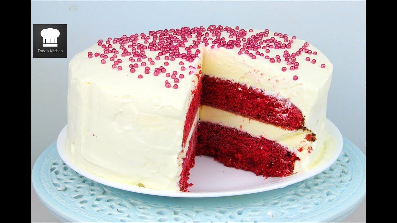 Red Velvet Ice Cream Cake - YouTube