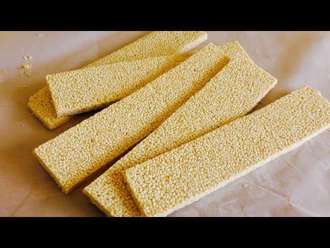 Sesame seed snaps  | Three Ingredients Sesame Seed Snack |  کنجد