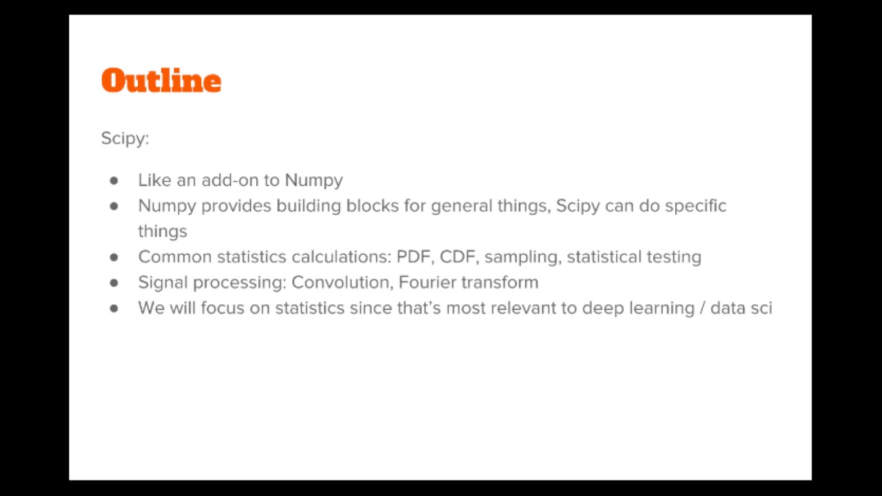 The Numpy Stack in Python - Lecture 1: Introduction