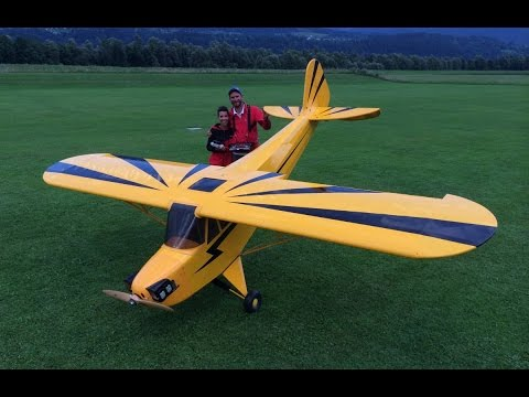 Sarah and the 50% Piper CUB by Gernot Bruckmann
