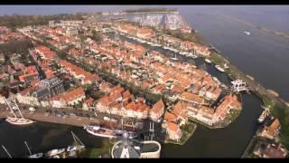 Drone opnames over de prachtige stad Enkhuizen