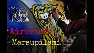Airbrush gambar marsupilami
