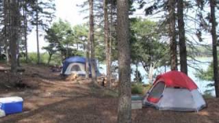 Maine Oceanfront Camping  Sagaḋahoc Bay Campground   Cabin Rental