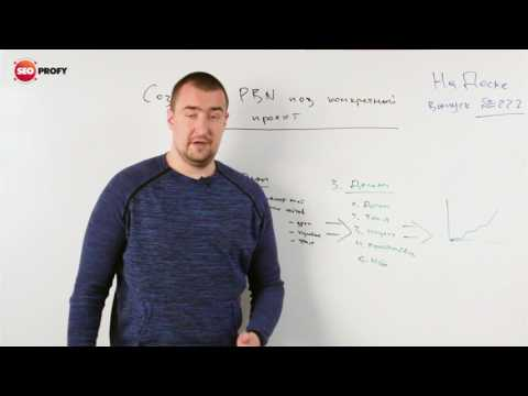 Создание PBN под конкретный проект
