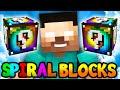 Minecraft Spiral Lucky Block Herobrine Challenge!