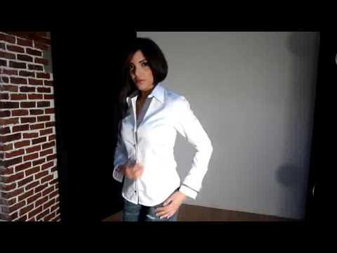chemise femme blanche unie gazoil collection mod le elza. Black Bedroom Furniture Sets. Home Design Ideas