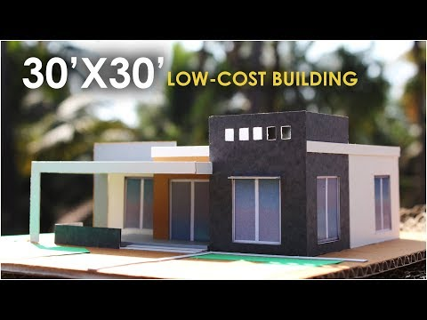 30x30 | LOW-COST BUILDING DESIGN | 2BHK | south facing