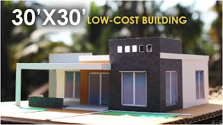 30x30 low cost building design 2bhk south facing