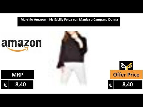Iris /& Lilly Felpa con Manica a Campana Donna Marchio
