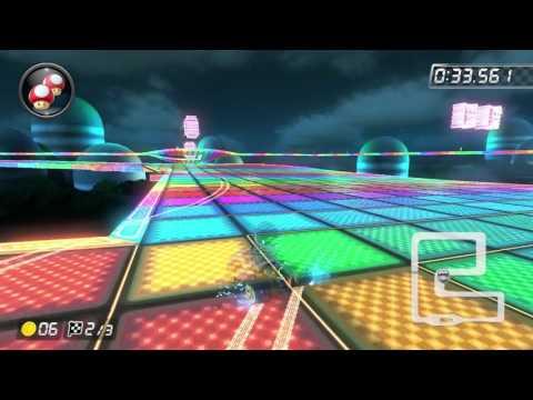 Mario Kart 8 Deluxe Time Trial (200cc) – SNES Rainbow Road (RR) – 1'08