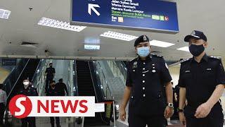 Random checks on public transport users in Klang Valley