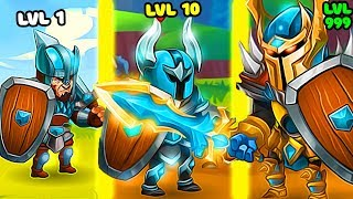 EVOLUTION OF GLADIATORS TO BEAT ALL ENEMYS FOR WIN ARENA IN GAME TINY GLADIATORS!