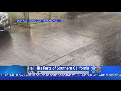 Rain, Hail, Even A Land Spout Make It A Wild Weekend In SoCal Weather