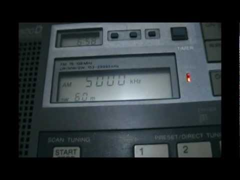 WWVH Time signal Kekaha, Hawaii - 5000 kHz