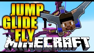 Minecraft 1.9 - JUMP, GLIDE, FLY! - Minecraft Flying Challenge with Elytra Wings