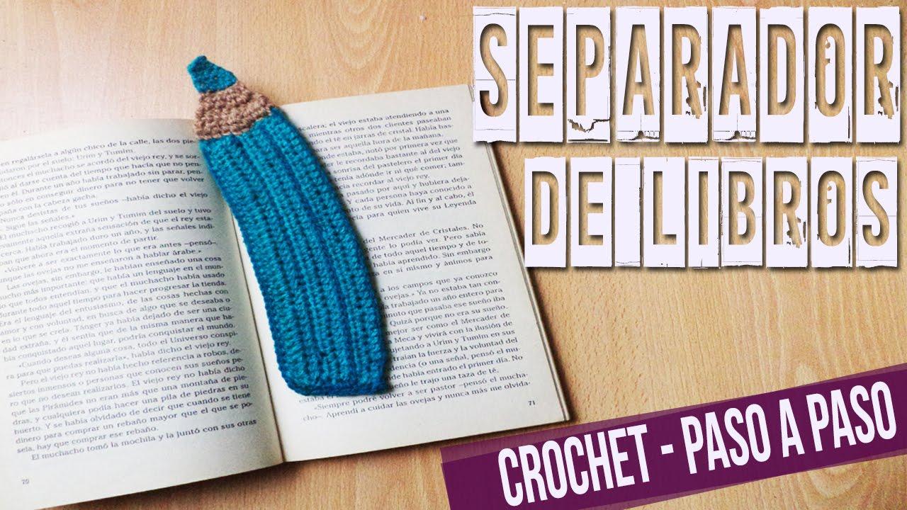 Separador De Libros - Tejido En Crochet Tutorial Paso a Paso - YouTube