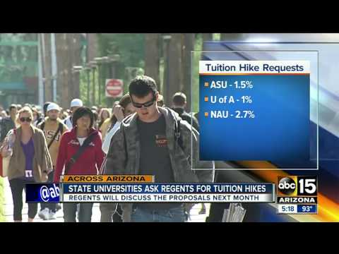 Arizona universities consider raising tuition costs