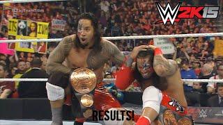 WWE Royal Rumble 2015 The Usos vs The Miz & Damien Mizdow WWE Tag Team Championship Match Result!