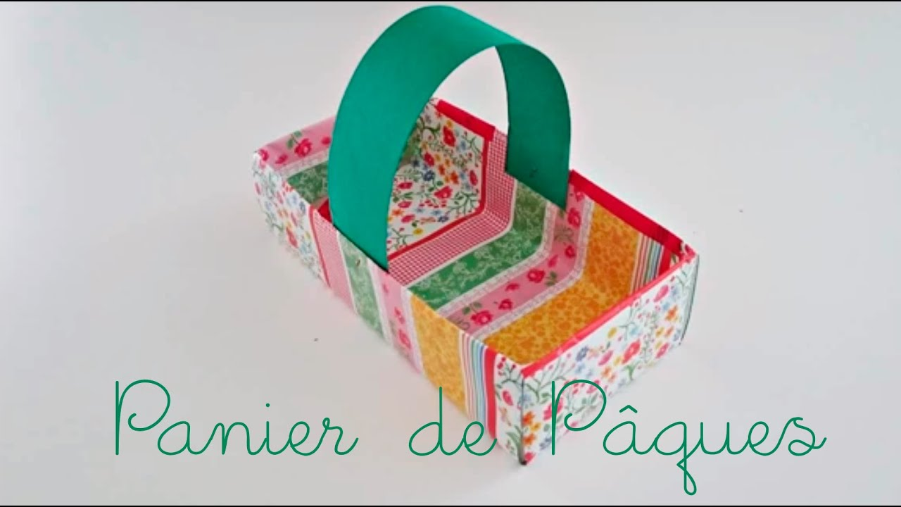 bricolage de p ques pour enfants fabriquer un panier de p ques youtube. Black Bedroom Furniture Sets. Home Design Ideas