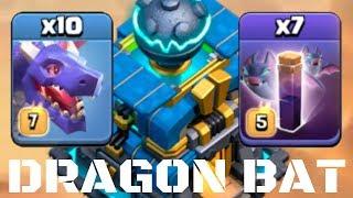 DRAGON BAT ! New Trend 2019 Dragon Bat Spell Attack Strategy / Clash of Clans Batt Spell 3 stars cwl