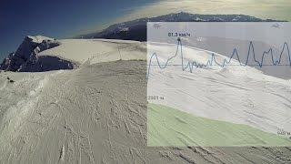 1080p 48fps Спуск на скорость по трассе Роза Хутор, Сочи 2015, noname, сноуборд видео, speed(Snowboard video Скорость до 90 км/ч. С горизонта на лабиринт, если идти только по горизонту меньше 10 мин. Пик 2320м...., 2015-01-27T19:37:20.000Z)