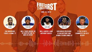 First Things First audio podcast(6.13.19)Cris Carter, Nick Wright, Jenna Wolfe | FIRST THINGS FIRST