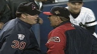 1996 WS Gm6: Cox ejected after arguing close call