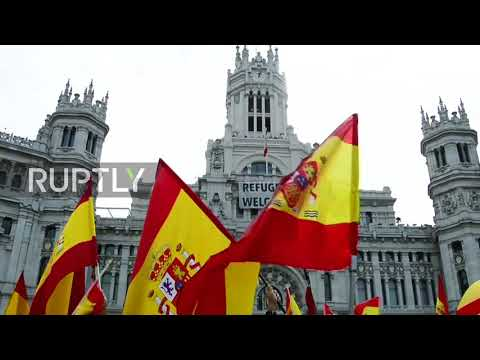 Spain: Thousands of Madrid unionists join nationwide protest against Catalan referendum