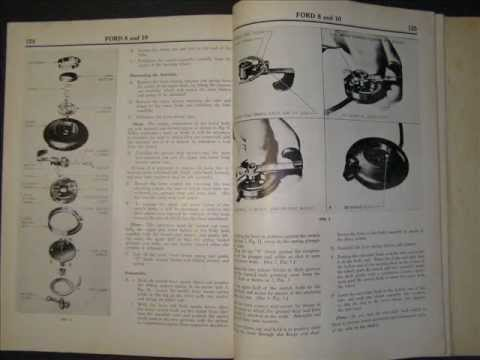 Ford 8 and 10 horsepower workshop manual