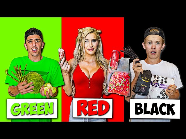 Eating Only ONE Colored Food for 24 HOURS! **Rainbow Food Challenge**
