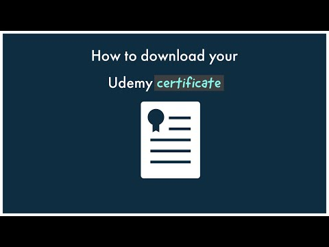 How to download Udemy certificate - YouTube